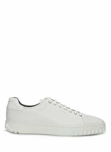 Salvatore Ferragamo Salvatore Ferragamo  Erkek Deri Sneaker 101620596 Beyaz